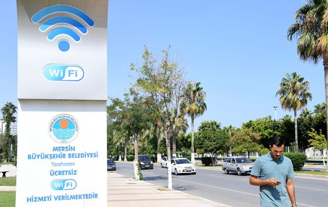 Mersin Sahil Boyu Ücretsiz Wi-fi,Mersin Sahilleri Ücretsiz ve Kesintisiz İnternetle Buluşuyor