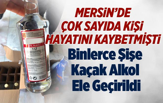 Mersin'de Bin 400 Şişe Etil Alkol Ele Geçirildi