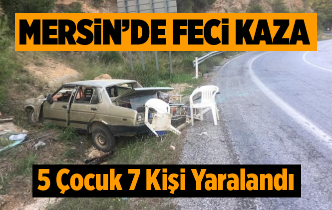 Mersin Tarsus'ta Kaza 7 Yaralı