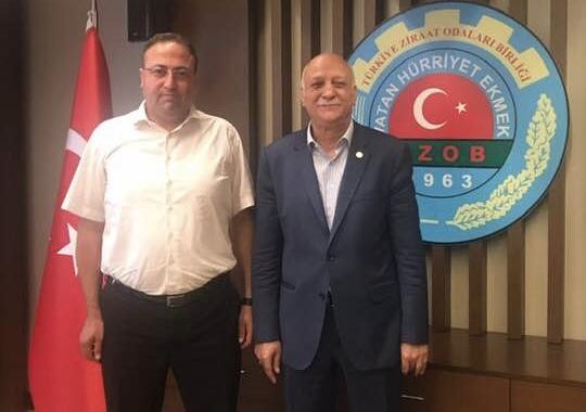 Tarsus Ziraat Odası Başkanı Veyis Avcı, Genel Başkanla Görüştü