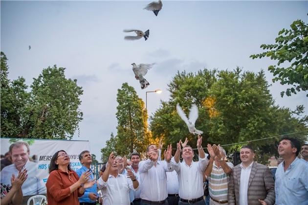 """Beyaz Güvercinler """"Mersin"""" İçin Uçuruldu"""