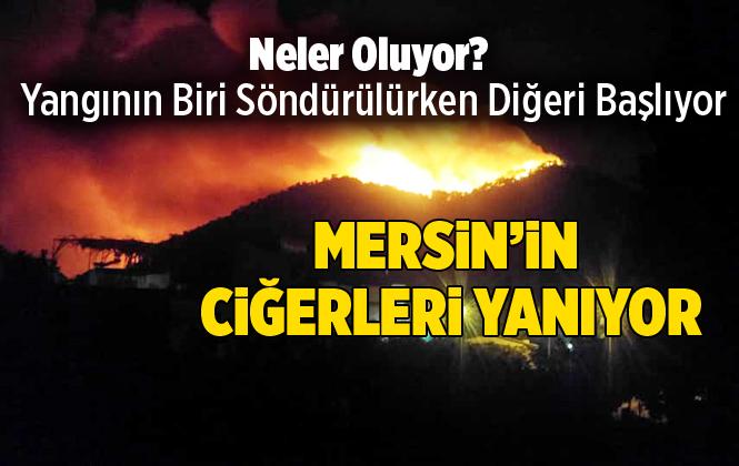 Mersin Bozyazı'da Orman Yangını