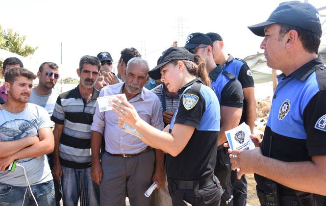 """Mersin'de Toplum Polisinden """"Dolandırılmayın"""" Uyarısı"""