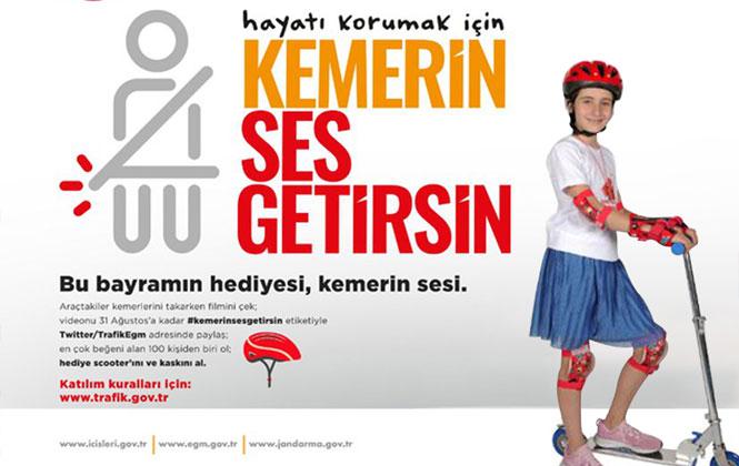 """Mersin'de """"Kemerin Ses Getirsin"""" İsimli Trafik Yarışması"""