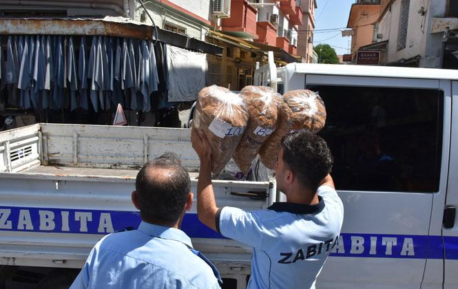 Mersin Tarsus'ta Zabıta İle Polisten Kaçak Tütüne Geçit Yok