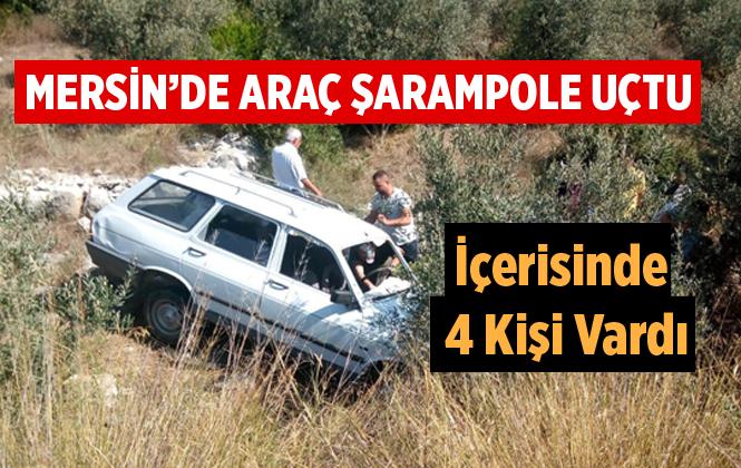 Mersin'da Çamlıyayla Yolunda Kaza 4 Kişi Yaralandı.