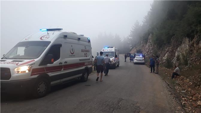 Mersin Erdemli'de Uçuruma Yuvarlanan Kamyonet Sulama Havuzuna Düştü 2 Kişi Yaralandı