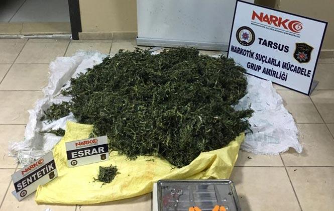 Mersin Tarsus'ta Emniyetten Uyuşturucu Tacirlerine Operasyon 3 Gözaltı