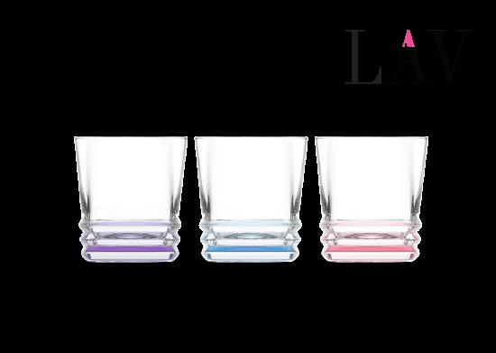 3'lü Elegan Dip Boyalı Kahve Yanı Su Bardağı