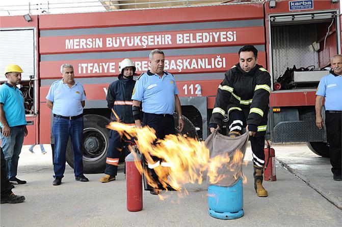 Gökçebelen Şantiyesi'nde Yangın Tatbikatı Yapıldı! Personel Olası Yangına Karşı Bilgilendirildi