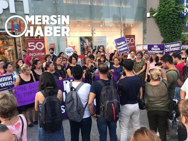 Emine Bulut Cinayeti Mersin'de Kadınları Sokağa Döktü