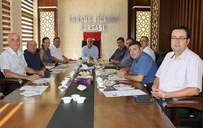 Tarsus Zeytin Platformu Tarsus Sarıulak Slowfood ekibinin katılımıyla Borsa Başkanlık Toplantı salonunda toplandı