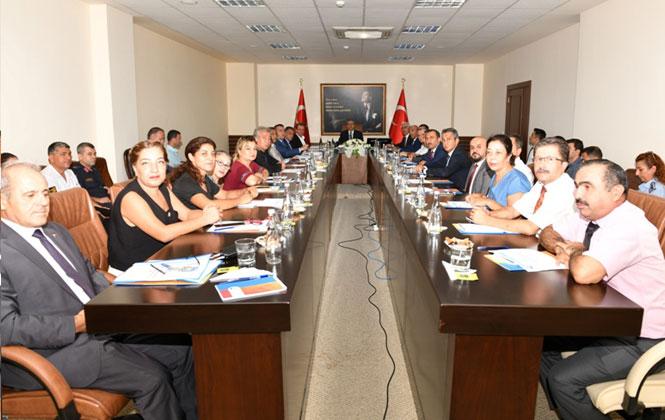 Mersin'de 2019-2020 Eğitim-Öğretim Yılı Güvenlik Toplantısı Vali Su Başkanlığında Yapıldı