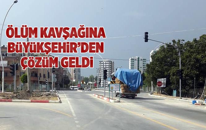 Mersin Tarsus'ta ki Ölüm Kavşağına Büyükşehir Belediyesinden Çözüm Geldi