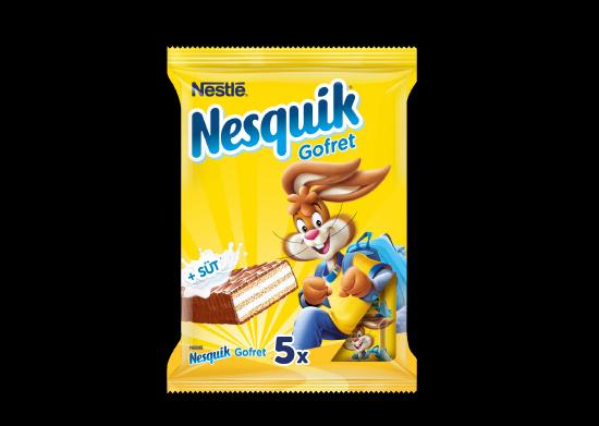 Sütlü Çikolata Kaplı Gofret Nesquik 5x19 g