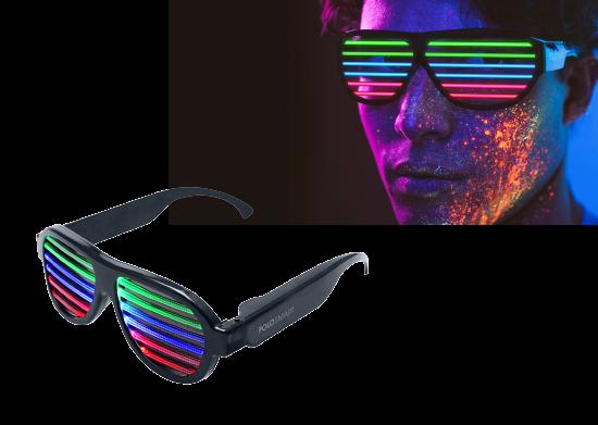 PoloSmart Sese Duyarlı Led Gözlük
