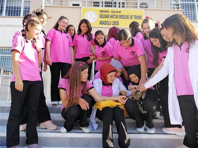 Gülnar'da Öğrencilere Hayvan Sevgisi Aşılanıyor