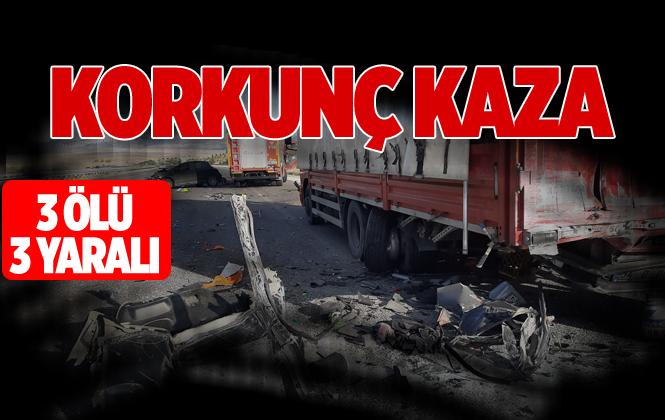 Ankara Çevre Yolunda Feci Kaza 3 Ölü