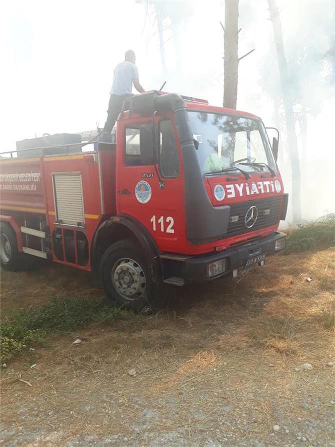 Tarsus'ta Tarihi Gözlükle Hüyüğün'de Yangın