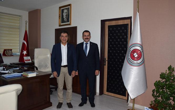 TSO Başkanı Koçak'tan, Tarsus Cumhuriyet Başsavcısına Ziyaret