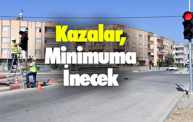 Mersin Tarsus'ta Ledli Trafik Sinyalizasyon Sistemi, Kazaları Minimuma İndirecek
