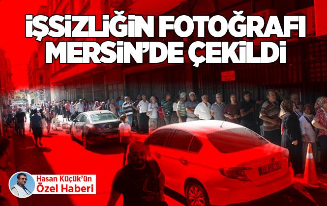 Mersin'de İŞKUR Önünde İşiszilik Fotoğrafı