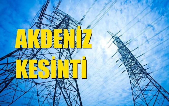 Akdeniz Elektrik Kesintisi 25 Eylül Çarşamba