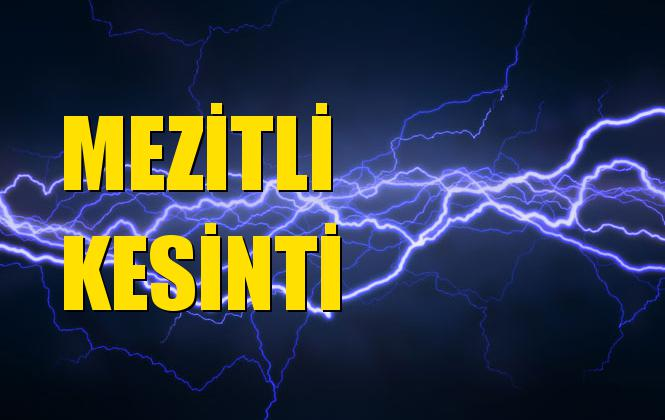 Mezitli Elektrik Kesintisi 25 Eylül Çarşamba