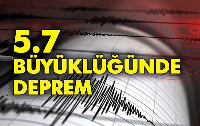 İstanbul'da Deprem! Silivri Açıklarında Deprem Meydana Geldi, Depremin Şiddeti 5.7