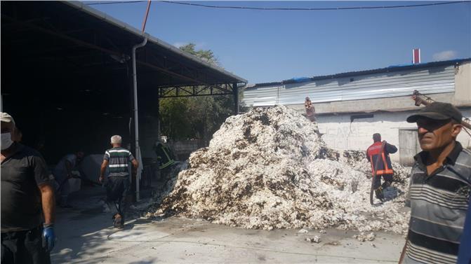 Mersin Tarsus 82 Evler Mahallesindeki Çırçır Fabrikasında Korkutan Yangın