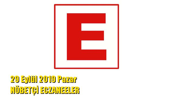 Mersin Nöbetçi Eczaneler 29 Eylül 2019 Pazar