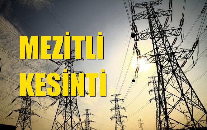 Mezitli Elektrik Kesintisi 01 Ekim Salı