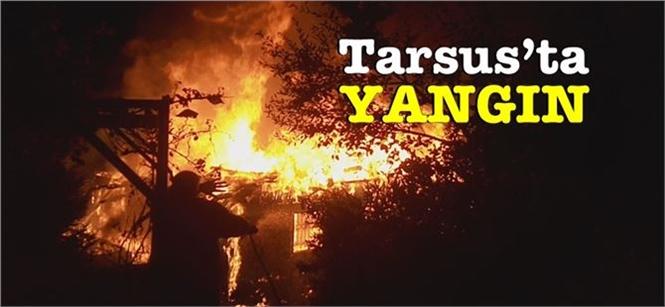 Mersin'in Tarsus İlçesinde 3 Katlı Ahşap Evde Yangın Çıktı