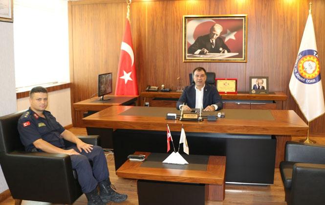 Jandarma Komutanı'ndan, Tarsus TSO'ya Ziyaret