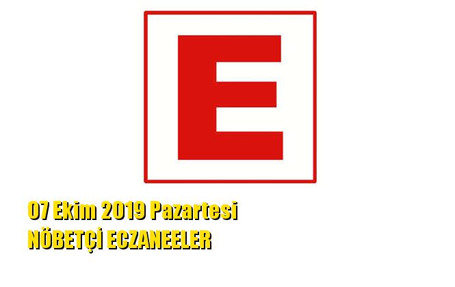Mersin Nöbetçi Eczaneler 07 Ekim 2019 Pazartesi