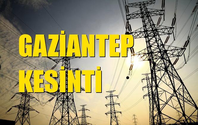 Gaziantep Elektrik Kesintisi 08 Ekim Salı