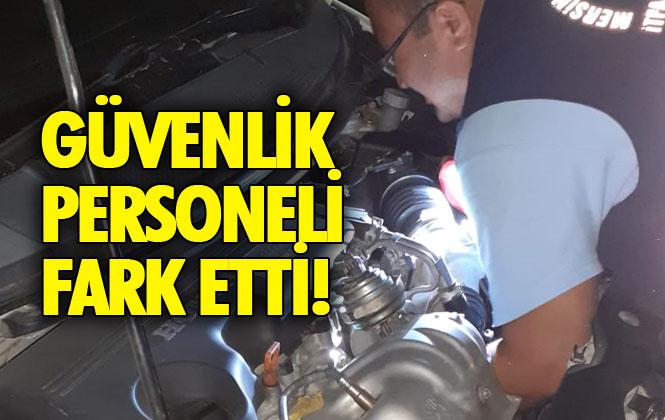 Mersin Tarsus'ta Motor Kısmına Sıkışan Minik Kedi, Güvenlik Görevlilerinin Dikkati Sayesinde Kurtuldu