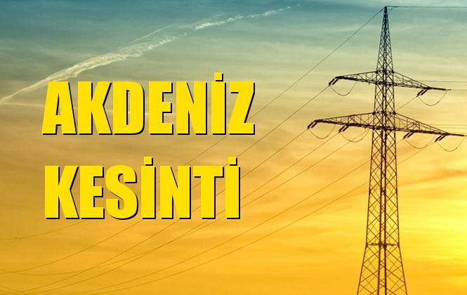 Akdeniz Elektrik Kesintisi 13 Ekim Pazar