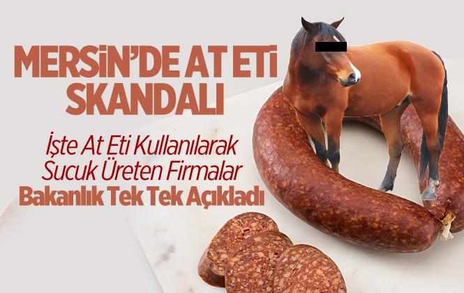 Mersin'de Bazı Firmalarda At Eti Kullanılarak Sucuk Üretilmiş. İşte At Eti Kullanan Firmalar