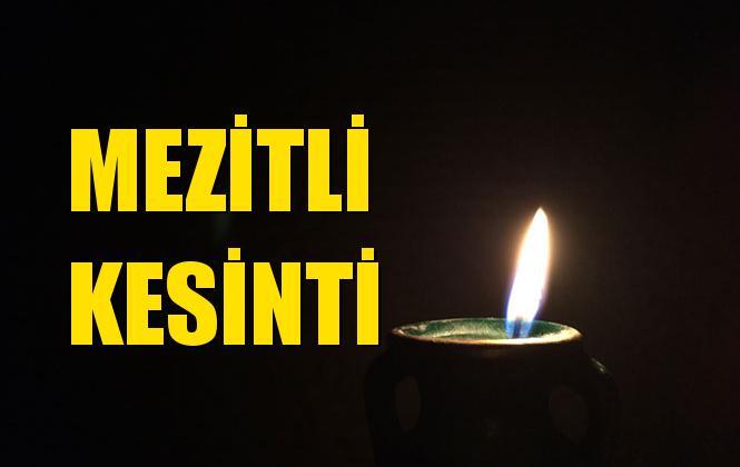 Mezitli Elektrik Kesintisi 13 Ekim Pazar