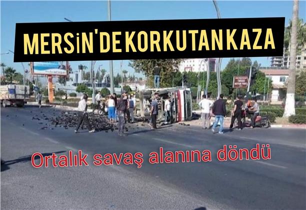 Mersin Tarsus'ta Meydana Gelen Kazada 2 Kişi Yaralandı.