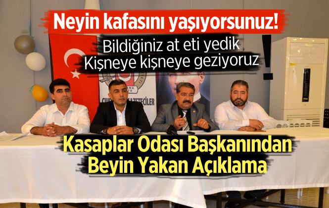 Adana Kasaplar Odası Başkanı'ndan İlginç Açıklama, Kırmızı ete kanatlı eti bıçakla bulaşıyormuş
