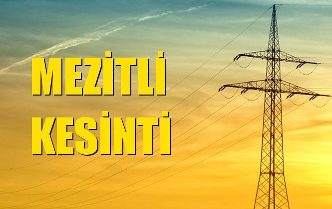 Mezitli Elektrik Kesintisi 17 Ekim Perşembe