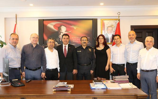 Tarsus TSO'dan, Göreve Başlayan İlçe Emniyet Müdürüne Ziyaret