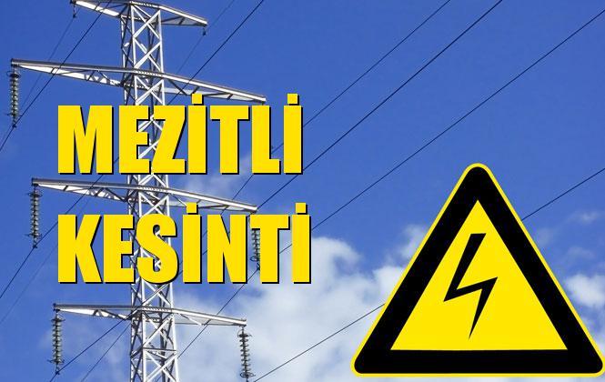 Mezitli Elektrik Kesintisi 22 Ekim Salı