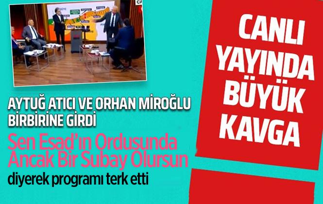 CHP Mersin Eski Milletvekili Aytuğ Atıcı İle Orhan Miroğlu Cnn Türk Ekranında Tartıştılar.