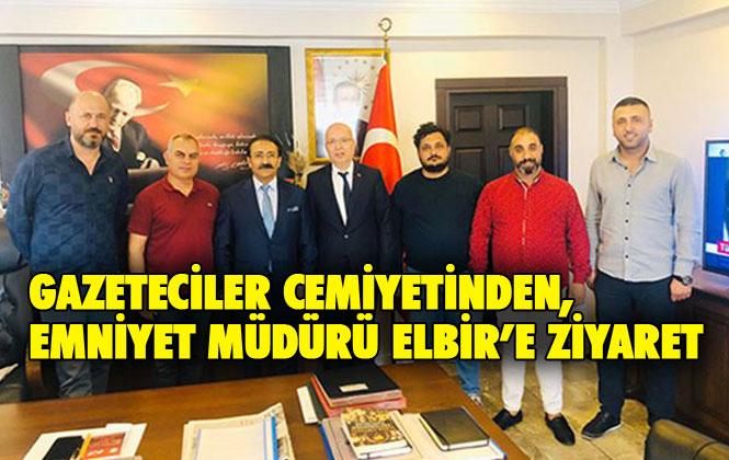 Gazeteciler Cemiyeti Yönetiminden, Emniyet Müdürü Elbir'e Ziyaret