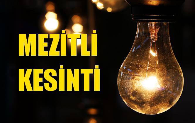 Mezitli Elektrik Kesintisi 23 Ekim Çarşamba