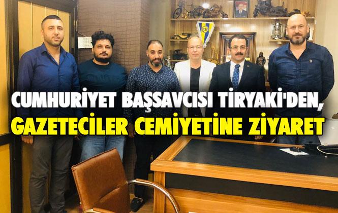 Cumhuriyet Başsavcısı Ramazan Murat Tiryaki, Gazeteciler Cemiyeti Yönetimi Kurulu Üyeleri İle Buluştu