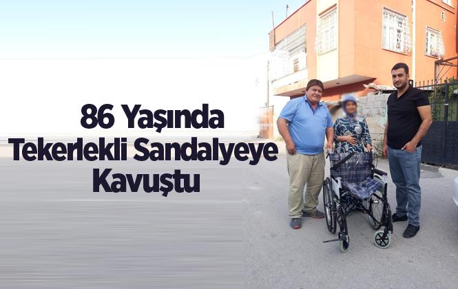 86 Yaşındaki Kadının Tekerlekli Sandalye İhtiyacı Giderildi